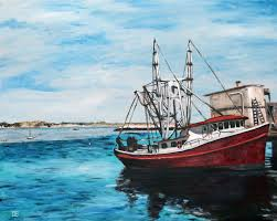 oil painting of provincetown fishing boat on cape cod ma by jeffrey dale starr