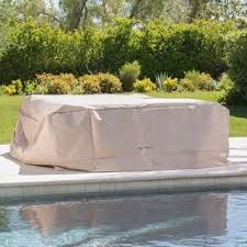 Image Sofa Cover Shield Outdoor Waterproof Fabric Chat Set Patio Cover In Natural By Christopher Knight Home Overstock Buy Top Rated Patio Furniture Covers Online At Overstockcom Our