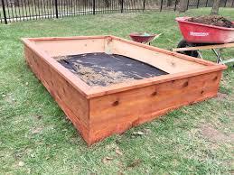 cedar garden box. Completed Cedar Garden Box