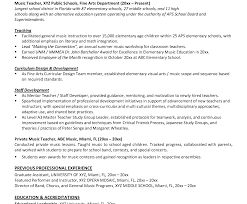 Cover Letter How To Write A Teaching Resume Music Teacher Pics