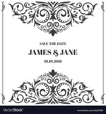 Wedding Card Frame Border Royalty Free Vector Image