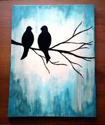 canvas art ideas for beginners easy canvas painting ideas for