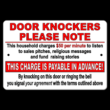 Door Knockers Household Charges $50 A Minute To Listen Pay In ...