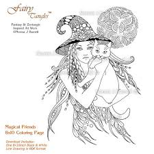 Small Picture Magical Friends 8x10 Fairy Tangles Printable Coloring Pages