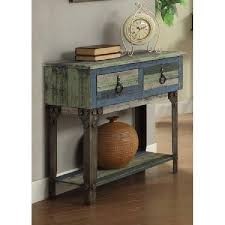 vintage rustic small console sofa table