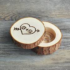 Decorative Ring Boxes Amazon Custom Ring Box Personalized Wedding Valentines 68