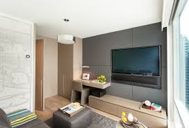 media unit ideas family room contemporary with low slung media console floating desk wall mounted