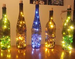 Bar Accessories And Decor Fall Lighted Wine Bottle Wine Gift Wine Decor Hostess 49