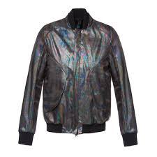 flash reactive rainbow oil effect er jacket