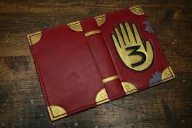 gravity falls journal 3 leather doent cover by arnakhat