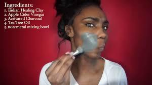 diy best diy face mask activated charcoal tea tree oil oak leaf