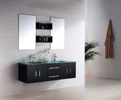 modern bathroom vanities glass countertops