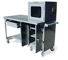 spectacular mobile computer desk photos locking on wheels