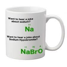 sodium joke novelty science gift mug