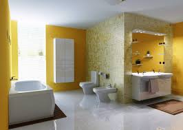 bathroom color ideas for painting. Bathroom Twin White Cone Sink Paint Color Schemes Awesome Blue Tile Wall Orange Shower Curtains Glass Ideas For Painting