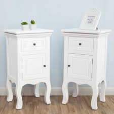 wood white bedside tables nightstands fully assembled high quality mdf material