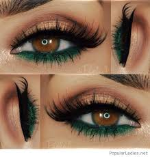and green eye makeup for brown eyes