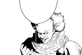 Pennywise Coloring Pages The Clown Wurzen Page Get Well Cards