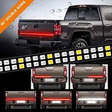LPENG 60'' double Rows LED Truck Tailgate Light Bar Strip Red/White ...