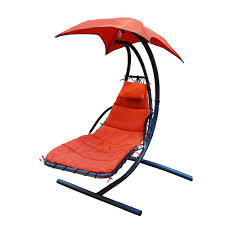 h polyester hanging chaise lounge hammock with stand 4717 the home depot