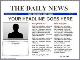 Newspaper Template For Google Docs Blank Newspaper Template Google Docs Template And Paper World