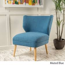 desdemona mid century fabric accent chair by christopher knight home