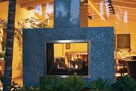 indoor outdoor fireplace modern
