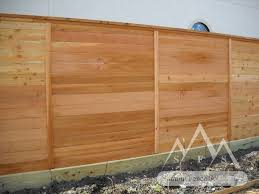 horizontal wood fence panels. Horizontal Wood Fence With Trim Panels