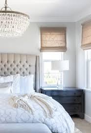 Master Bedroom | Calming Master Bedroom | Linen Bed |Gray Walls |Tufted  Headboard|
