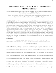 System Analysis And Design Project Report Design Of A Road Traffic Monitoring And Report System Docsity