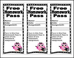 printable teachers no homework pass templates clip art library the