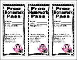 printable teachers no homework pass templates clip art library the