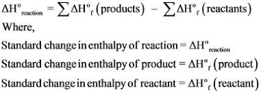 Using The Standard Enthalpies Of Formation What Is The