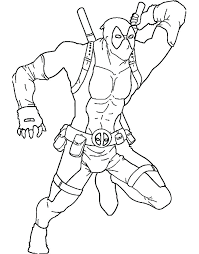 Coloring Pages Deadpool Coloring Pages Printable Dead Pool Logo