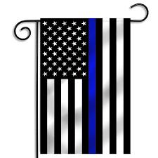 garden flags. Thin Blue Line American Garden Flag - 12.5 X 18 Inches USA Flags