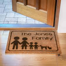 personalised family doormat by laser made designs ...