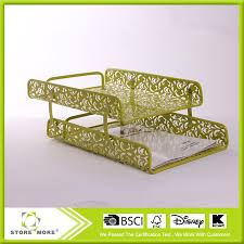 mesh desk file tray 2 tier metal punched desk tray metal tray decorative 2 tiers metal file tray metal tray on alibaba com