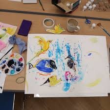 i am attaching some pictures from our previous painting and drawing classes and watercolour classes which were held in july