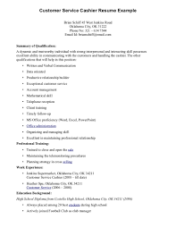 Customer Service Sample Resume Examples Of Resumes Job Resume Customer Service Cashier Within 23