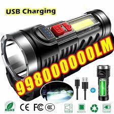 Ngoài Trời Đèn Pin Xách Tay Đèn Pin LED Siêu Sáng Tầm Xa USB Sạc Nhỏ Đèn  Xenon Đèn Chiến Thuật Hộ Gia Đình Ánh Sáng Flashlights & Torches