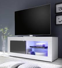 small tv units furniture. Urbino Small TV Unit INCLUDING LED Spot Light - White And Anthracite Tv Units Furniture A