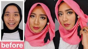 one brand makeup tutorial wardah makeup pesta natural inivindy you