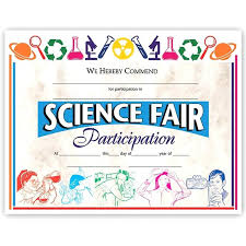 Science Fair Templates Science Fair Participation Certificate Template Best Of Image