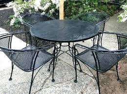 wrought iron patio furniture vintage. Wrought Iron Bistro Set Patio Mid Century Vintage Furniture