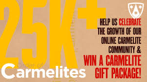celebrate 25 000 with us and win a carmelite gift package news order of carmelites