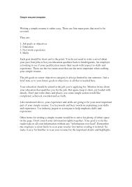 Simple Example Resume Resume Templates