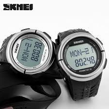 original skmei 1058 heart rate monitor pedometer sport 50m original skmei 1058 heart rate monitor pedometer sport 50m waterproof digital watch men women calorie counter