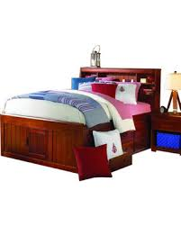 full size captains bed with storage. Exellent Size Full Size Captains Bed With Bookcase Headboard And Six Storage Drawers C