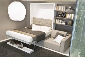 couch bedroom sofa: gallery  exquisite bedroom apartment design featuring wall bed couch style with grey sofa and bookshelves also grey furry rug as good bed choice design for small apartment ideas wall bed couch bedroom smart w