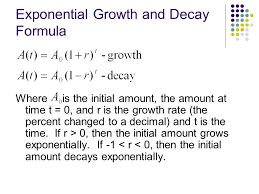 exponential growth and decay formula